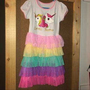 Other - Size 4 unicorn dress little sister NWOT
